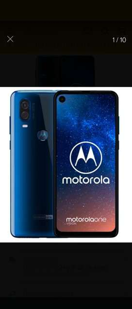 Celular Motorola One Visión.