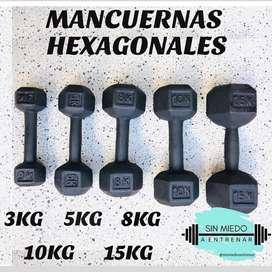 Mancuernas Hexagonales