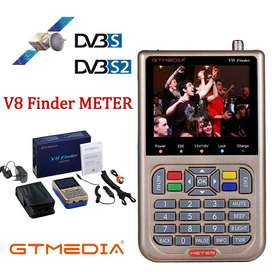 GT MEDIA/Freesat V8 Finder Meter DVB-S2/S2X Digital Satellite Finder de alta definición 1080P