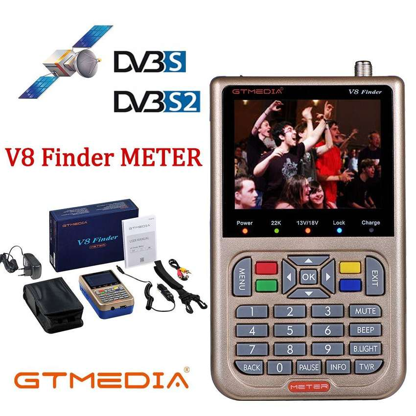 GT MEDIA/Freesat V8 Finder Meter DVB-S2/S2X Digital Satellite Finder de alta definición 1080P 0