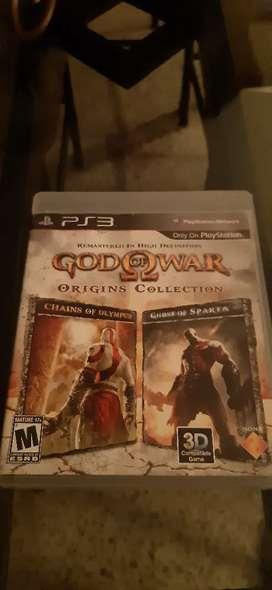 Ps3 vendo juegos god of war chains of olympus y ghost of sparta