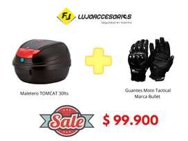Maletero TOMCAT 30lts  Guantes Tactical Bullet