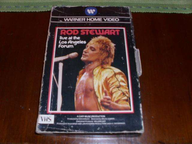 ROD STEWART VIDEO LIVE AT THE LOS ANGELES FORUM VHS 0