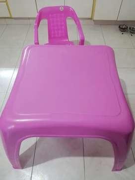 Vendo mesa rimax infantil rosada y silla rosada rimax
