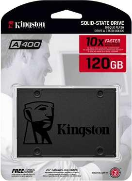 Disco Estado Solido Ssd 120gb Kingston A400 2.5 Nuevos