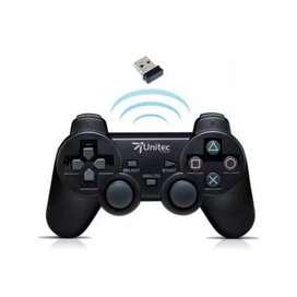 Mandó inalámbrico Unitec para PC y PlayStation 3 + funda en silicona