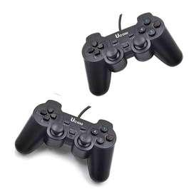 Control De Juegos Usb Double Shock 2 Controles Para Pc