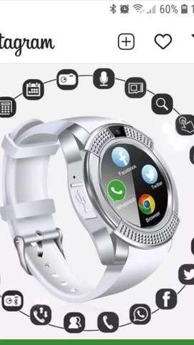 Smart watch reloj inteligente celular Android bluetooth notificaciones cámara