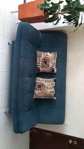 Vendo Mueble-Sofa cama Azul