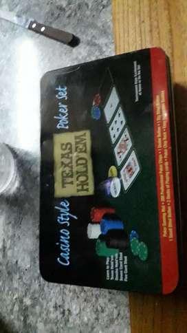 Vendo juego de poker
