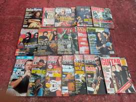 Revistas de Guitar World y Guitar Total