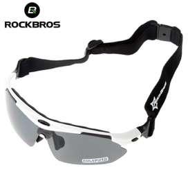 Gafas deportivas polarizada, blanco, 5 Lentes intercambiable RockBros