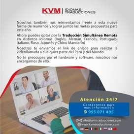 Servicio de Interpretación Simultánea Remota Profesional-Lima