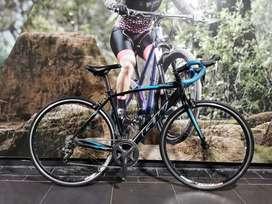 Bicicleta ruta gw veleta 8v claris marcó en aluninio