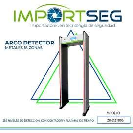 Arco Detector De Metales 18 Zonas Acceso Zkteco Zk-d2180s