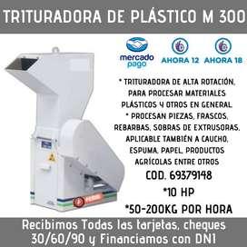 TRITURADORA DE PLÁSTICOS M300 200 KG/HORA