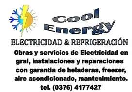 Instalación de AA y electricidad
