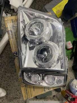 Farolas toyota prado ojos de angel LED