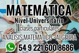 Profesor de matemática clases particulares