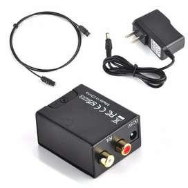 Convertidor De Audio Análogo A Digital (Óptico a RCA)