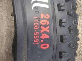 LLANTAS DE CAUCHO PARA BICICLETAS RIN 26x4.0 FAT BIKE