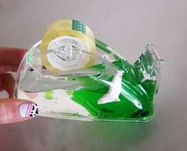 Porta cinta adhesiva acrílica con gel. ENVIOS