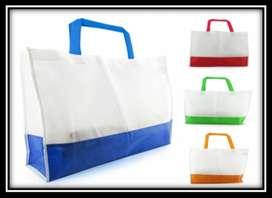 bolsas compras bicolor 2 x 2 unidades