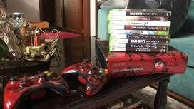 XBOX 360 edición Gears of Wars 3 (320 GB) 2 controles y 8 juegos