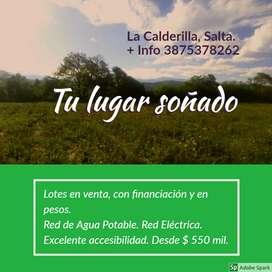 Lotes en La Calderilla