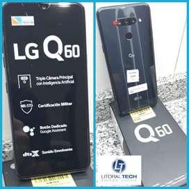 Celular LG Q60. Aurora Black. Liberado