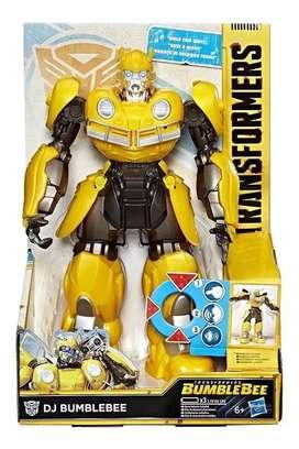 Muñeco Bumblebee Dj Transformers Musical y Movimientos Original Hasbro
