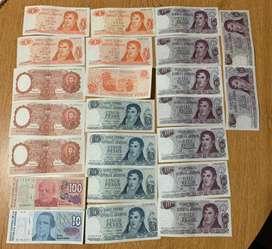 Billetes Antiguos (lote De 30) Como Nuevos !!!