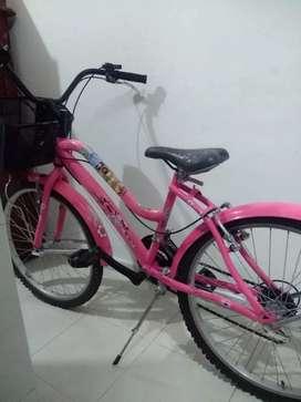 bicicleta estilo Barbie
