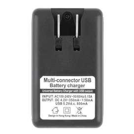 CARGADOR UNIVERSAL DE BATERÍA USB 5.2V/800MA 4.2V/350MA