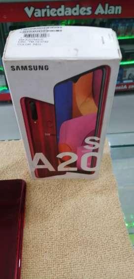 Samsung galaxy A20s perfecto 2 meses en uso perfecto estado color rojo 32G garantía 6 meses