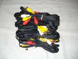 lote de 10 cables RCA...para reventa!