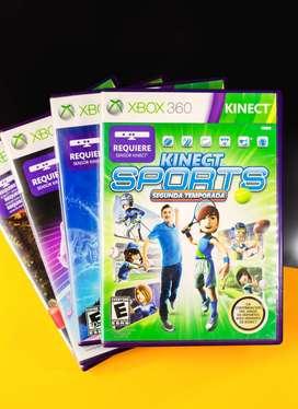 4 juegos para Xbox 360 Kinect