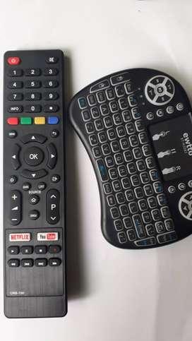 Control Remoto Para Tv Jvc Smart Nuevo + Mini Teclado Mando Bluetooth Para Celular Y Tv