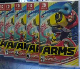 ARMS NINTENDO SWITCH NUEVO SELLADO STOCK