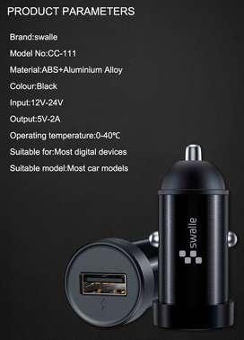 Convertidor para ficha usb conexión al encendedor del auto