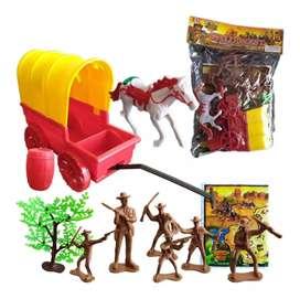 Soldados Vaqueros Juguete Didáctico Figuras Juguetería