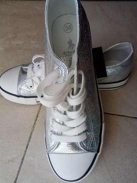Zapatos de dama tipo Converse (Apolo)