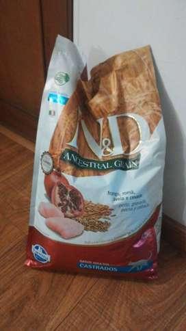 Comida N&D para gatos castrados 7.5 kg