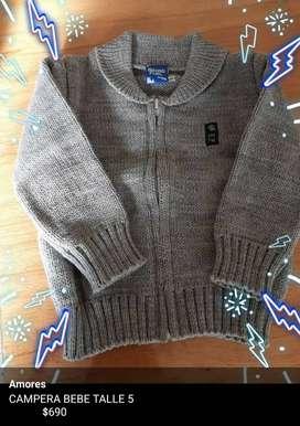 Sweaters y campera bebe talle 3 y 5