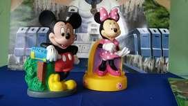 Alcancias de Micky Y Mini de Caucho