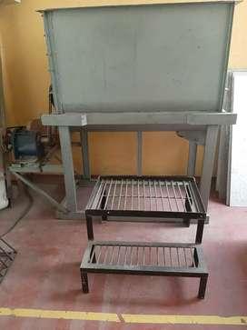 Mezcladora horizontal en hierro para mezclar alimentos para animales