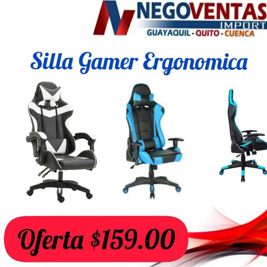 Silla gamer ergonómica 0