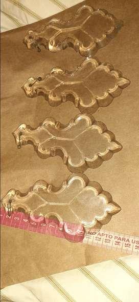 4 Plaquetas de Cristal