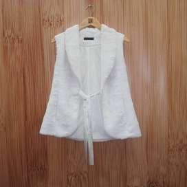 Chaleco de peluche modena blanco peluche para mujer,  vestido mujer formal talla 8