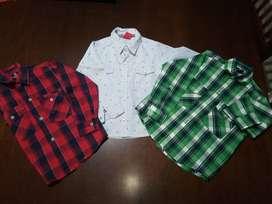 Camisas niño x 3